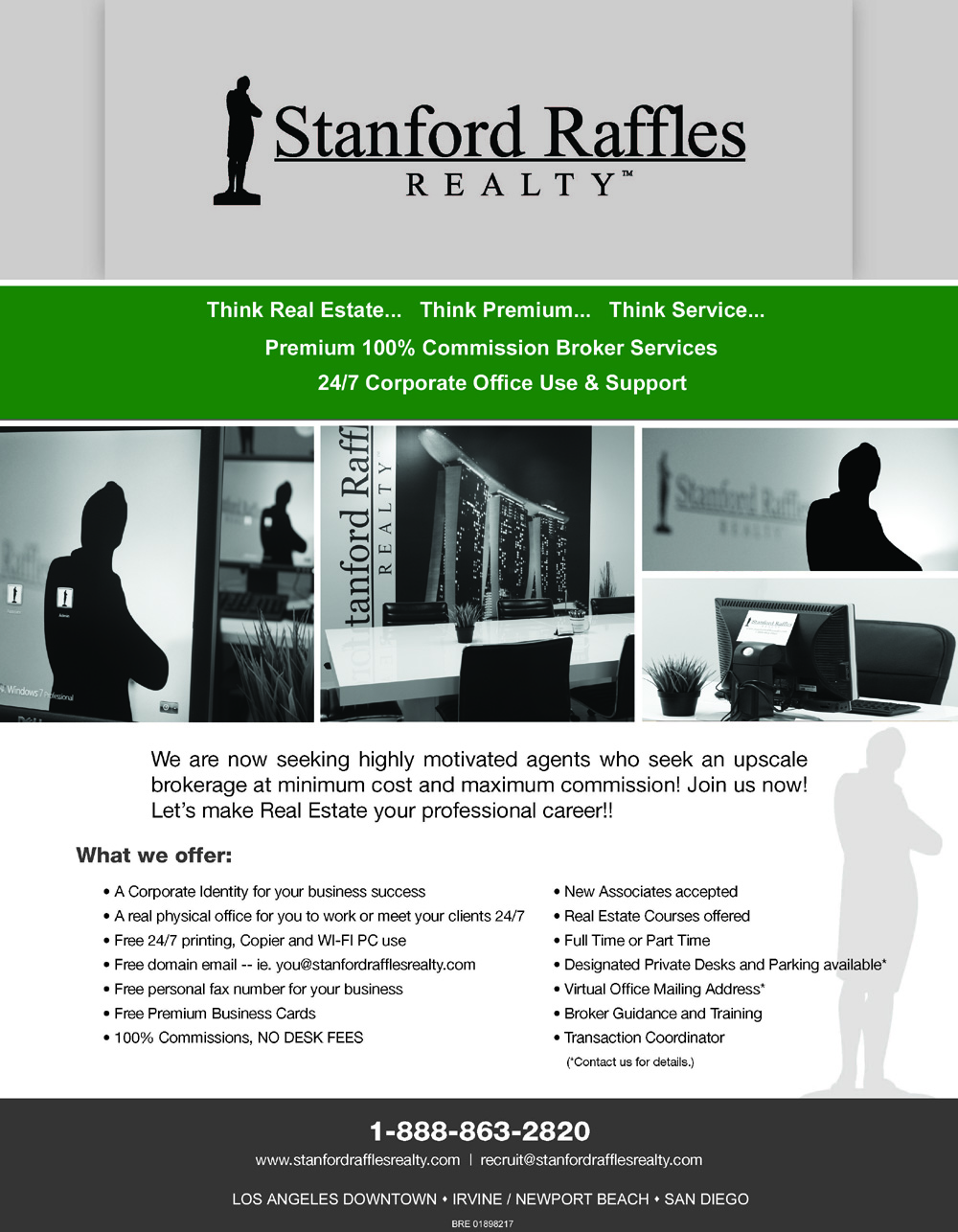 Stanford Raffles Realty - 100% Commissions Brokerage